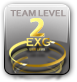 Camper Gamer hat Team Level 2 von maximal Team Level 3